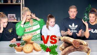 REAL vs FAKE CHRISTMAS FOOD Ft. SAFFRON BARKER