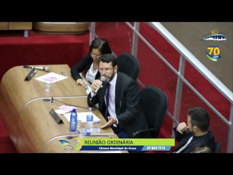 Reunião Ordinária (05/03/2018) - Câmara de Arcos