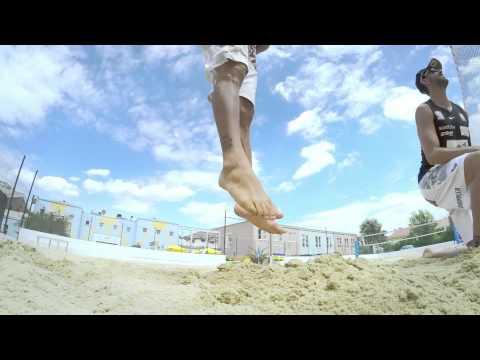 Unsere Beach-Asse zeigen ihre Skills - am Rio-Sand in Wien