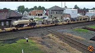 Military train through Deshler, OH on 06/20/2018