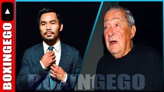 Manny Pacquiao CHECKS Bob Arum (subliminally) REVEALS