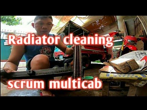 Paano maglinis ng Radiator sa Multicab scrum F6a yung makina