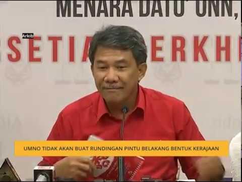 UMNO tidak akan buat rundingan pintu belakang bentuk kerajaan