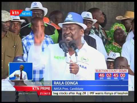 NASA flag bearer Raila Odinga accuses Jubilee of crippling the agricultural sector in Trans Nzoia