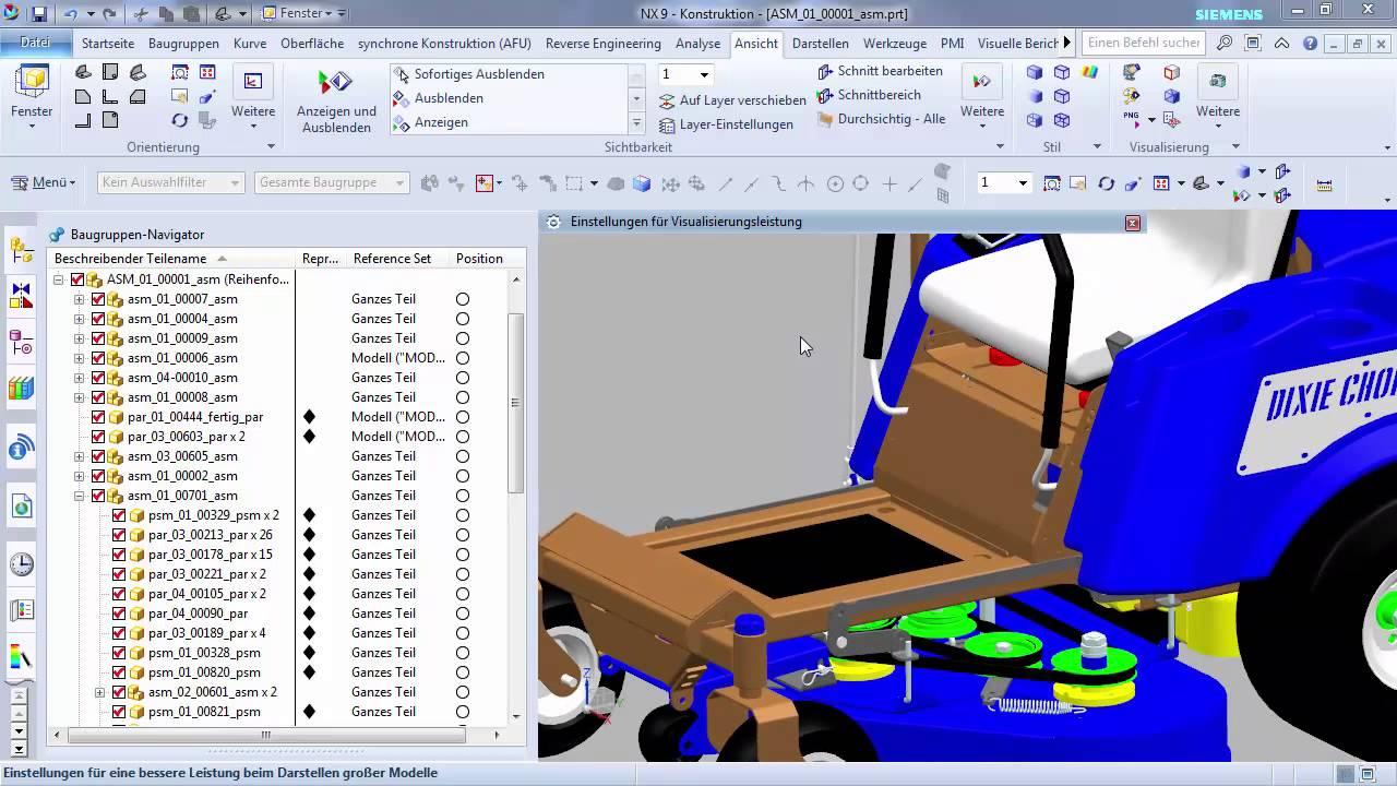 Vorschaubild: NX: Arbeiten mit großen Baugruppen
