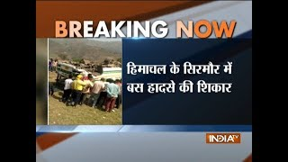Himachal: Six dead, several injured after a bus falls into deep gorge in Sirmaur