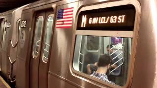 preview picture of video 'Forest Hills/71st Avenue-bound R160A M Train@21st Street/Queensbridge'