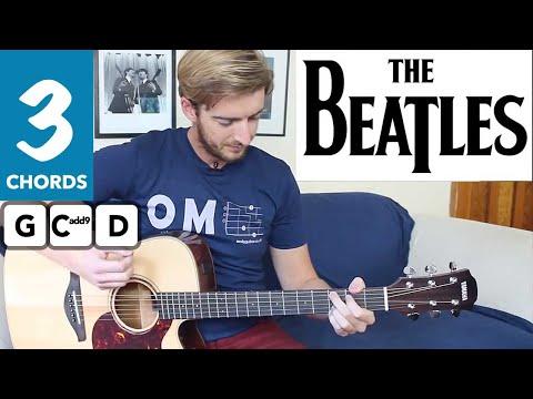 Love Me Do The Beatles EASY Guitar Tutorial - 3 Chord Song!