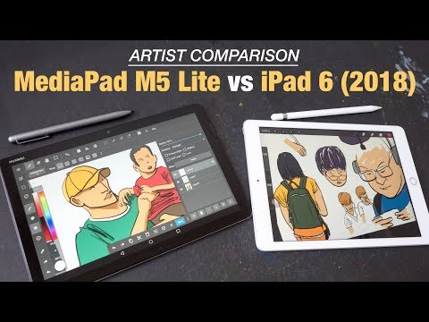 Huawei MediaPad M5 Lite vs IPad 2018 (Artist Comparison