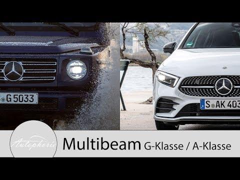 Mercedes-Benz G-Klasse MULTIBEAM vs. A-Klasse MULTIBEAM Scheinwerfer [4K] - Autophorie