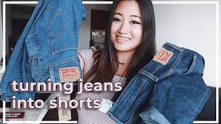 How to Cut Your Own Jeans into Shorts | DIY Levi's ✂️
