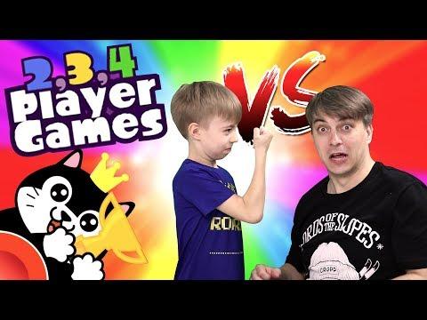 13 МИНИ ИГР - КТО КОГО? ДИМКА ЗЛОЙ! Играем в 2, 3, 4 PLAYER GAMES 😎😜 видео