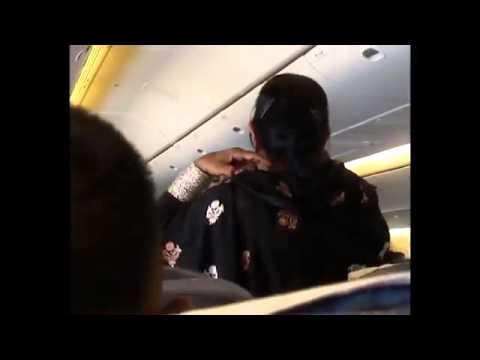 PIA Air Hostess   Flight Attendant Swearing at a Passenger   YouTube
