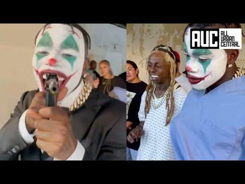 DaBaby Pulls Up On Lil Wayne Dressed Like The Joker From Batman