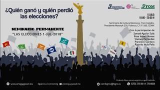 """Seminario Permanente """"Las elecciones 1/J/2018"""" ¿Quién ganó y quién perdió las elecciones?"""