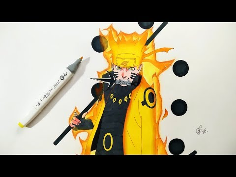 How To Draw Naruto Six Paths Sage Mode - Step By Step (Tutorial) - Naruto Shippuden