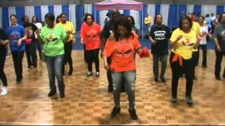 Booty Bounce Line Dance Performed at NBC4 Convention Center 3-16-13