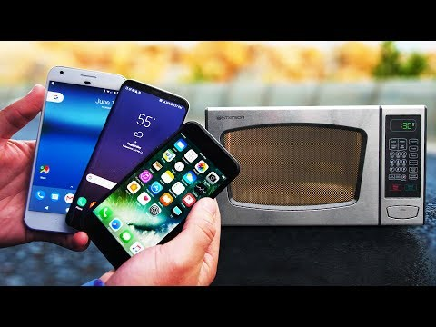 Survival test! iPhone 7 vs Samsung Galaxy S8 vs Google Pixel vs Microonde, tre device cotti a puntino