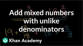 Adding subtracting mixed numbers 1 (ex 1)
