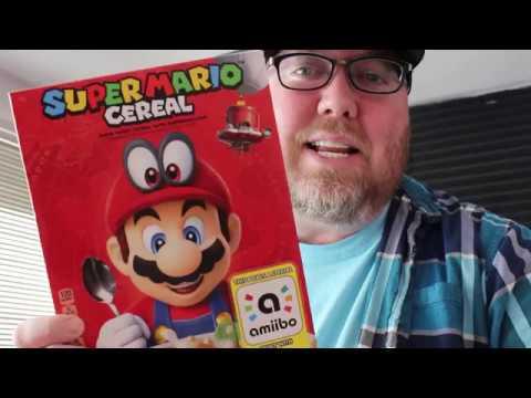 SUPER MARIO CEREAL Unboxing + Amiibo Testing