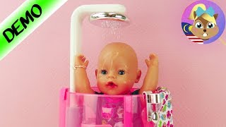 Baby Born MANDI dalam RAIN SHOWER | Seronok mandi dengan Baby Born & Sister | Zapf Creation
