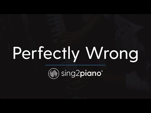 Perfectly Wrong (Piano Karaoke Instrumental) Shawn Mendes