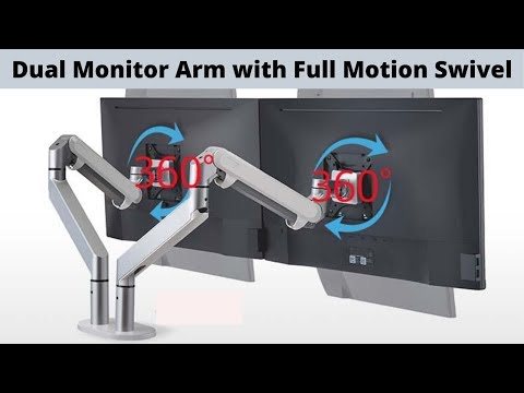 5 Best Dual Monitor Mount Stand with Full Motion Swivel