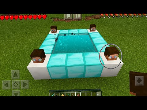 How To Make A Diamond Portal In Minecraft Pocket Edition (NO