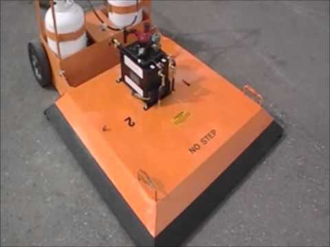 KM International Portable Infrared Asphalt Heater LB2-16 Part 1