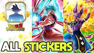 ALL SPECIAL STICKERS IN DOKKAN BATTLE (Updated July 2020) Dragon Ball Z Dokkan Battle