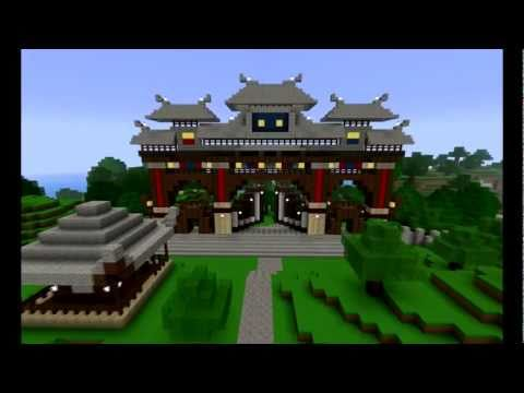 Minecraft Japanese Village tatsuyama - 龍山 - empire of the dragon mountain - v1.1 complete