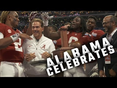 Watch as Alabama celebrates their season opening win against Florida State