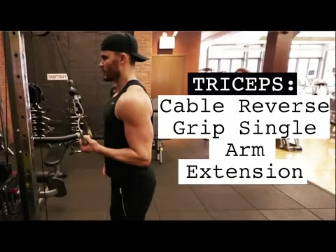 Triceps Cable Reverse Grip Single Arm Extension