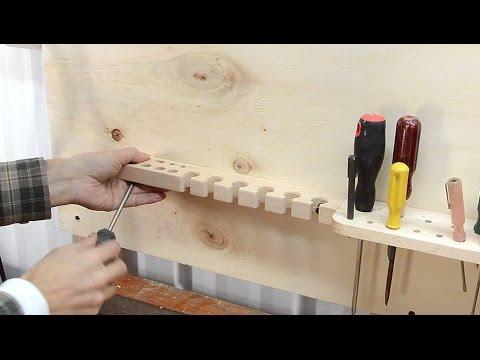 Praktische Werkzeughalterung für die Wand - Ordnung ist das halbe Leben
