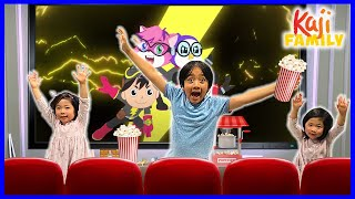 Last the Leave the Movie Theater Room 24 hrs Challenge!!