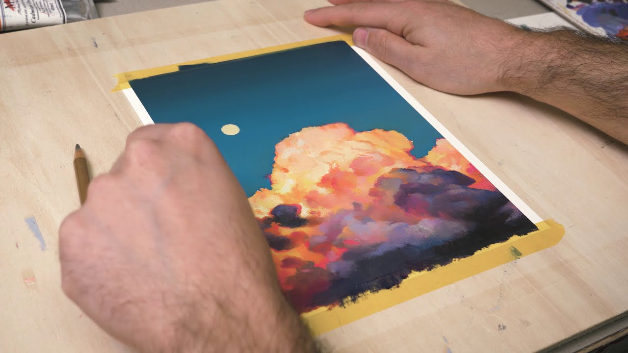 how to paint glowing clouds oil painting tutorials by alpay efe