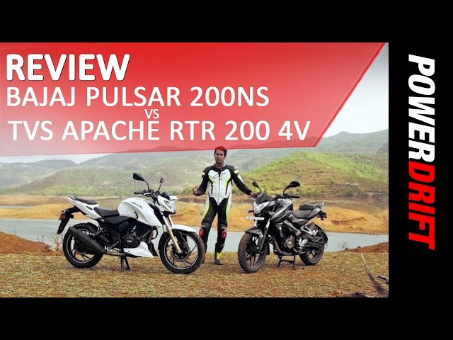 TVS Apache RTR 200 4V VS Bajaj Pulsar 200 NS : Review : PowerDrift