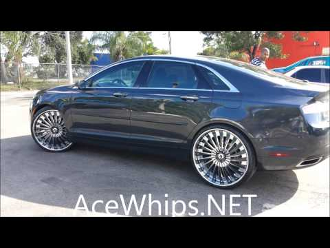 "AceWhips.NET- First 2014 Lincoln MKZ on 24"" Forgiatos by WTW Customs"