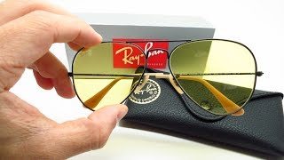 Ray-Ban RB 3025 Aviators Photochromic 9066/4A Sunglasses Review & Unboxing