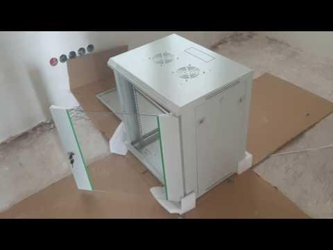 DIGITUS Netzwerk Schrank 19 zoll 12 HE Dynamic Basic Glastür Grün