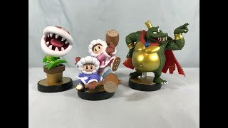 Nintendo Amiibo - Piranha Plant, Ice Climbers & King K. Rool Unboxing & Review