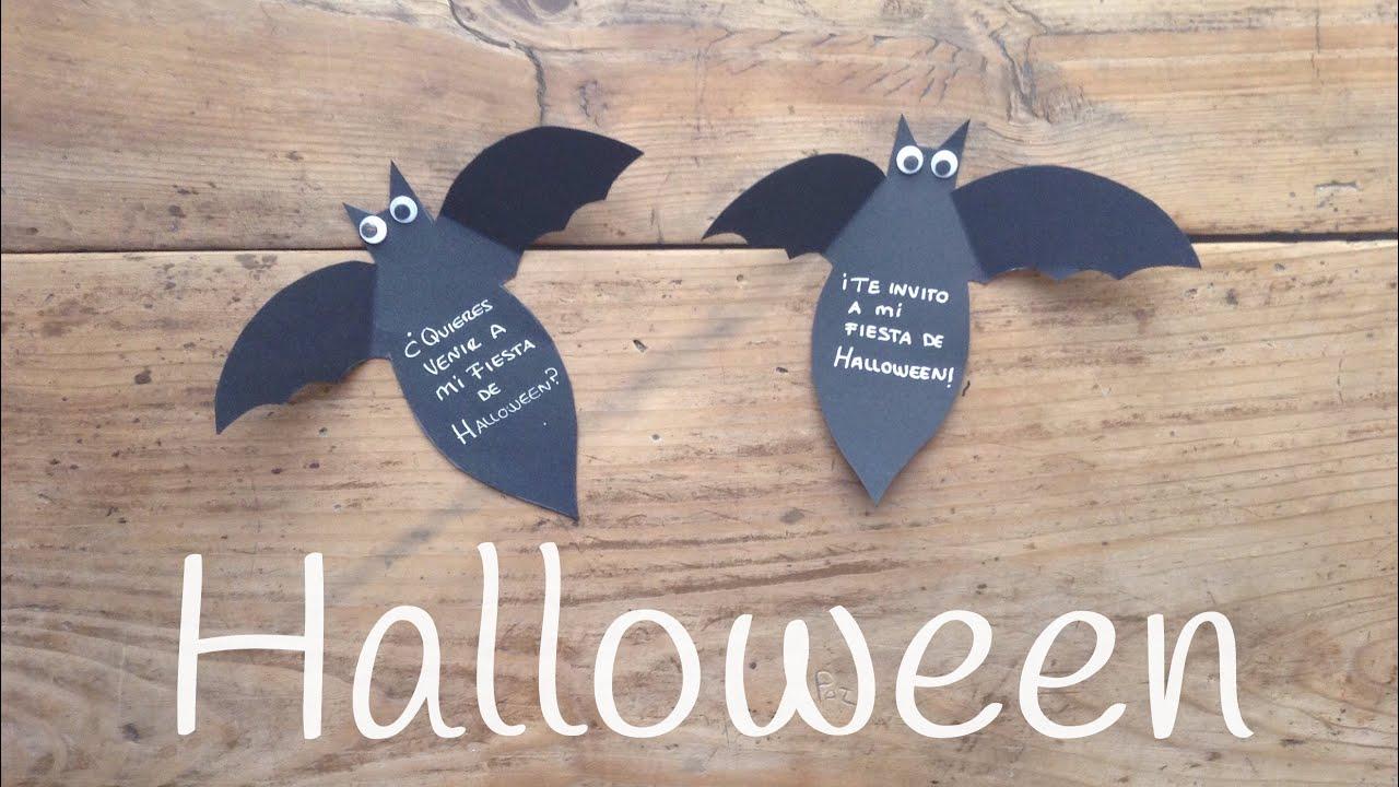 Invitaciones de HALLOWEEN | Manualidades de murciélagos para niños