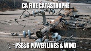 CA Fire Catastrophe: PSE&G Power Lines & Wind   Kholo.pk