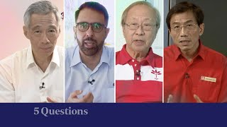 5 Questions with PM Lee, Pritam Singh, Tan Cheng Bock, Chee Soon Juan | The Straits Times [FULL]