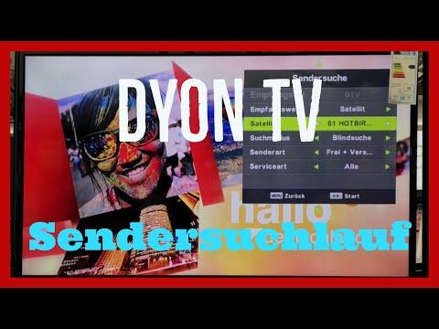 Dyon TV Sendersuchlauf starten Tutorial