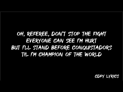 Coldplay - Champion of the world (Lyrics)