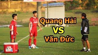 Thử Thách Bóng Đá đi xem Quả Bóng Vàng Quang Hải VS Phan Văn Đức ĐT Việt Nam  đấu Asian CUP 2019