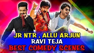 Jr NTR, Allu Arjun, Ravi Teja Best Comedy Scenes | South Indian Hindi Dubbed Best Comedy Scenes