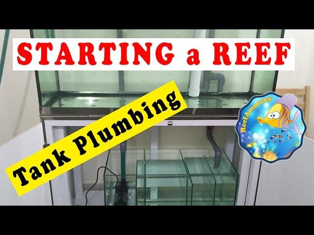 HOW TO: SET UP a Reef Aquarium | Tank Plumbing & overflow (120g Reef Tank Setup E7)  احواض بحرية