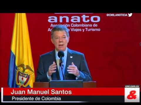 'No habra destino en Colombia que un turista no pueda disfrutar': Santos en la Vitrina Turistica